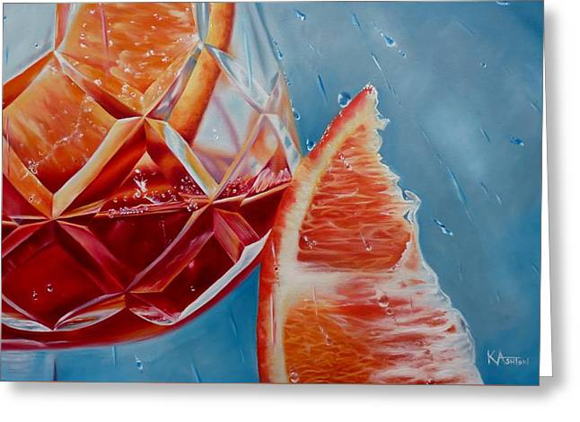 Sangria Whatever The Weather Greeting Card by Kay Ashton