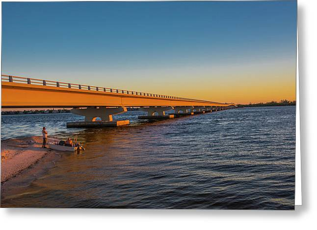 Greeting Card featuring the photograph Sanibel Causeway IIi by Steven Ainsworth