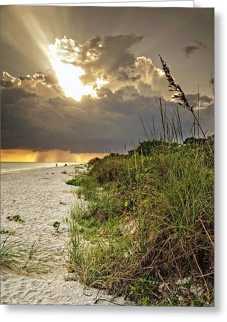 Sanibel Dune At Sunset Greeting Card