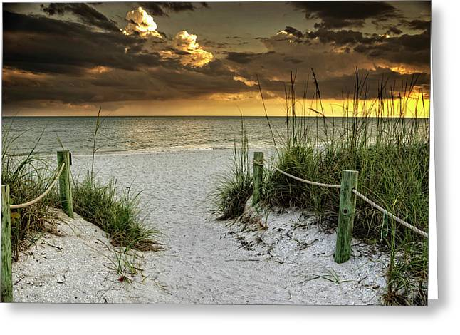 Sanibel Island Beach Access Greeting Card