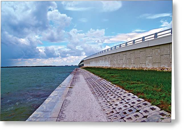 Greeting Card featuring the photograph Sanibel Island Bridge by Timothy Lowry