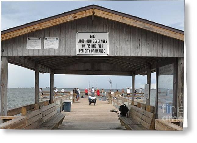 Sanibel Island Fishing Pier Greeting Card by John Black