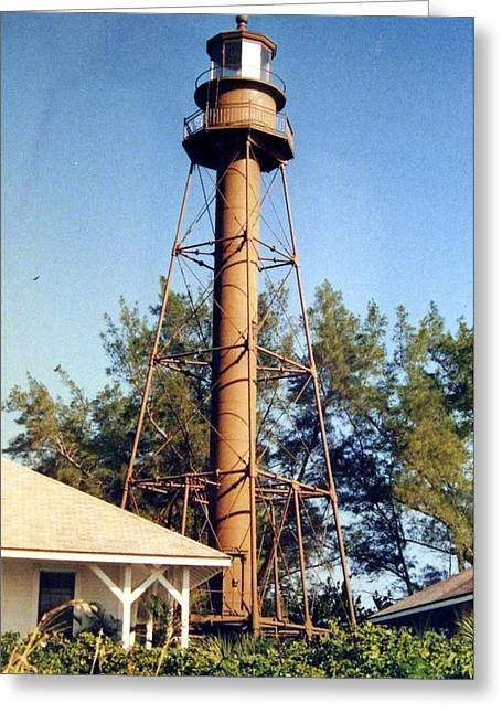 Greeting Card featuring the photograph Sanibel Island Light by Frederic Kohli