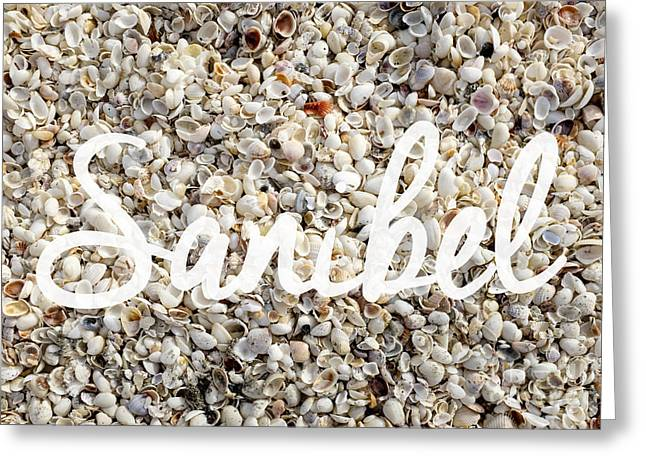 Sanibel Island Seashells Greeting Card by Edward Fielding