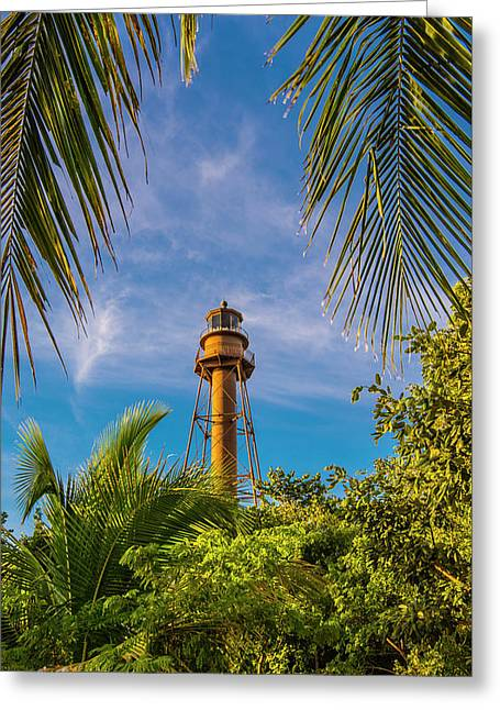 Greeting Card featuring the photograph Sanibel Lighthouse by Steven Ainsworth