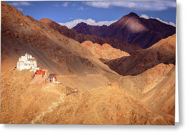 Greeting Card featuring the photograph Sankar Monastery by Alexey Stiop