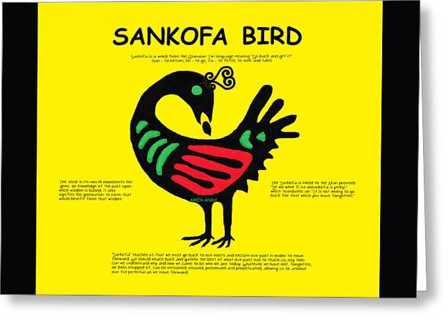 Sankofa Bird Of Knowledge Greeting Card
