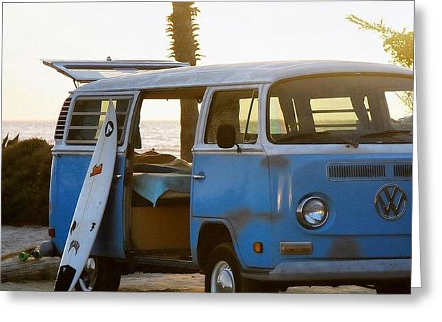 Vw And Surfboard Greeting Card
