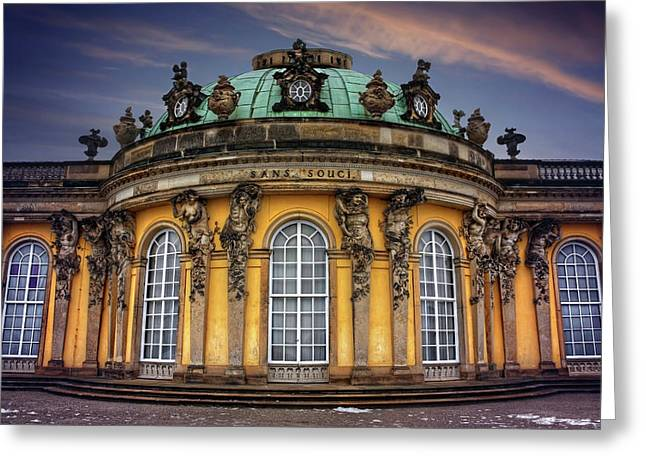 Greeting Card featuring the photograph Sanssouci Palace In Potsdam Germany  by Carol Japp