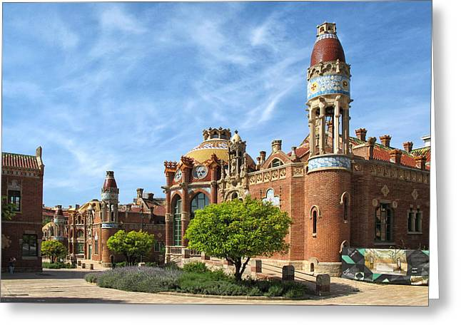 Sant Pau In Barcelona Greeting Card by Dave Mills