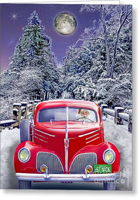 St. Nicks Coupe Express  Greeting Card