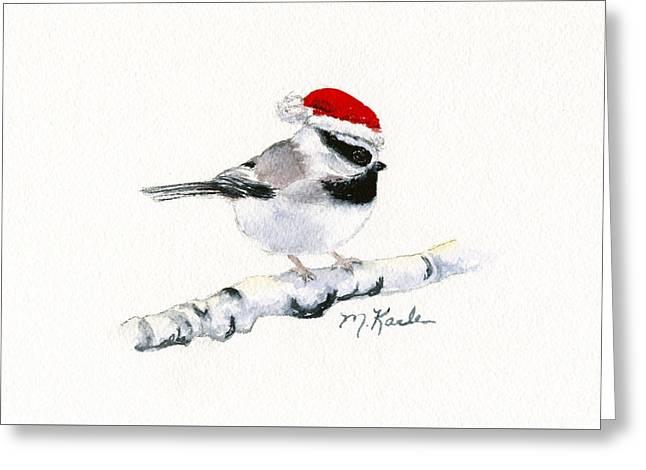 Santa Bandit - Chickadee Greeting Card
