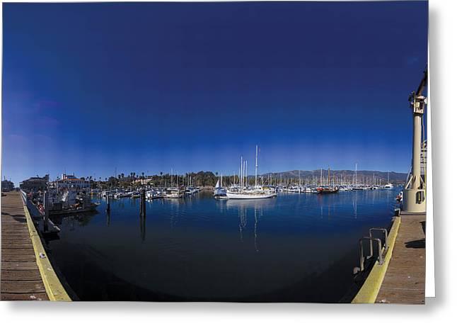Santa Barbara Harbor Greeting Card by Brian Lockett