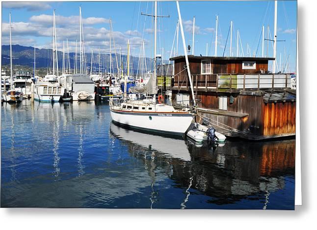 Greeting Card featuring the photograph Santa Barbara Harbor by Kyle Hanson