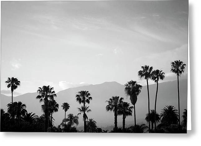 Santa Barbara I Bw Greeting Card