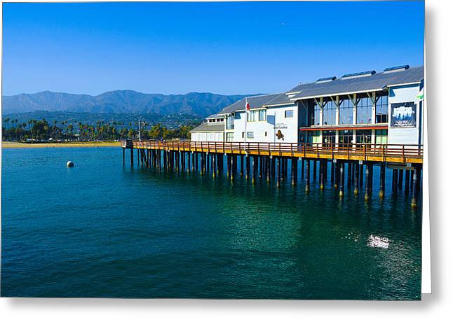 Greeting Card featuring the photograph Santa Barbara Pier by Dany Lison