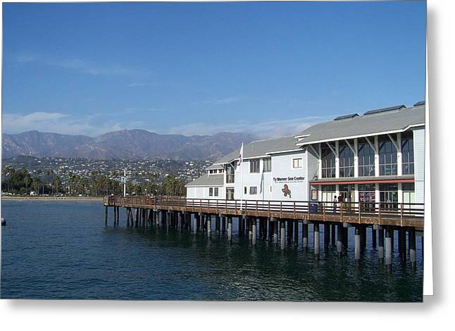 Santa Barbara Pier Greeting Card by Madeleine Prochazka