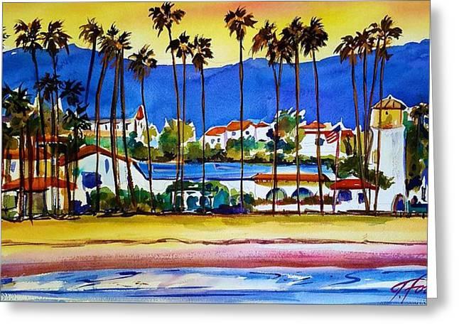 Santa Barbara Greeting Card by Therese Fowler-Bailey