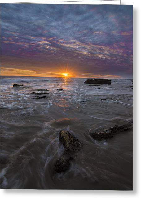 Santa Barbara Tides Greeting Card by Jeremy Jensen