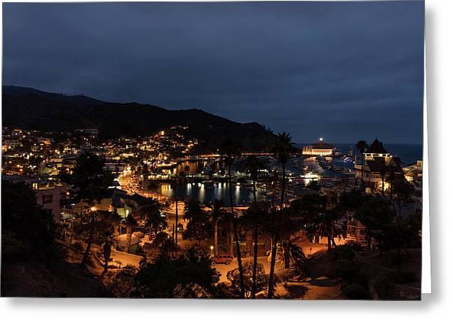 Santa Catalina Island Nightscape Greeting Card by Angela A Stanton