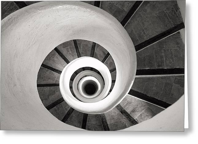 Santa Catalina Spiral Staircase Greeting Card