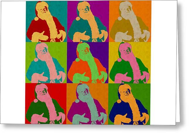 Santa Claus Andy Warhol Style Greeting Card