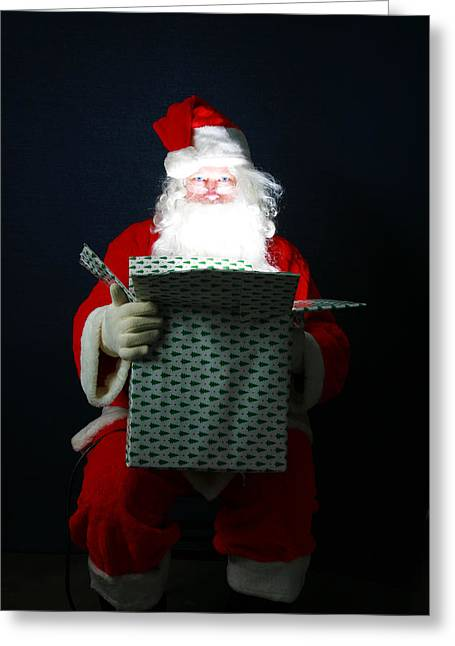 Santa Claus Has Christmas Magic For All Greeting Card by Michael Ledray