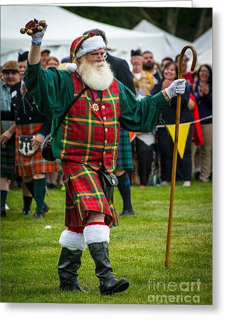Santa Claus - Scottish Festival And Highland Games Greeting Card by Gary Whitton