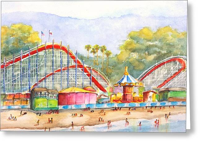 Santa Cruz Beach Boardwalk Greeting Card