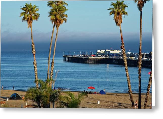 Santa Cruz Beach Greeting Card
