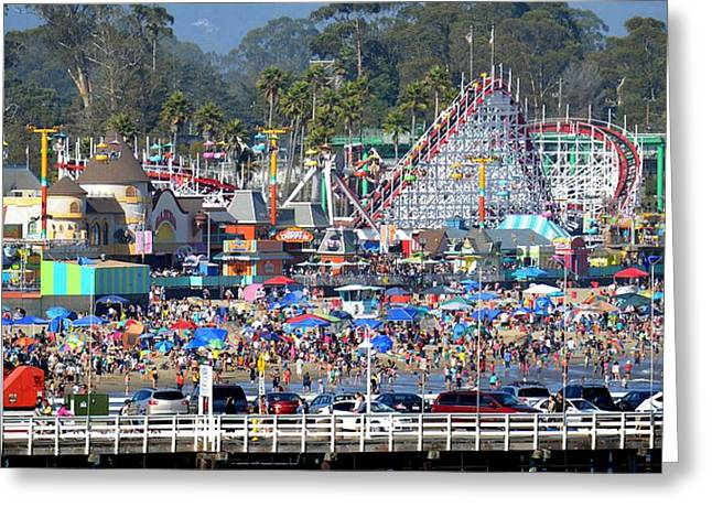 Santa Cruz Boardwalk Greeting Card