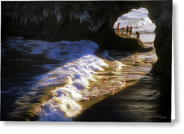 Santa Cruz 'bridge' California Coastline Greeting Card