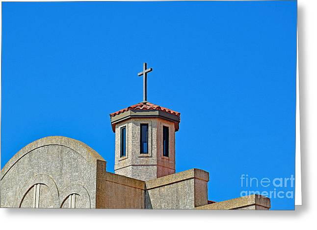 Santa Cruz Church  Greeting Card by Ray Shrewsberry