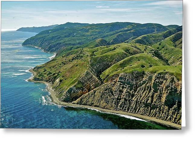 Santa Cruz Greeting Cards - Santa Cruz Island Greeting Card by Liz Vernand