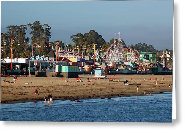 Santa Cruz  Greeting Card by James Kirkikis