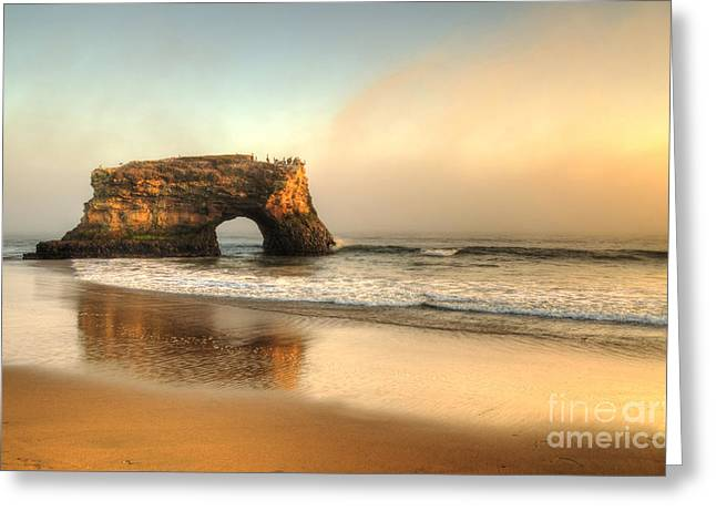 Santa Cruz Greeting Card by Kelly Wade