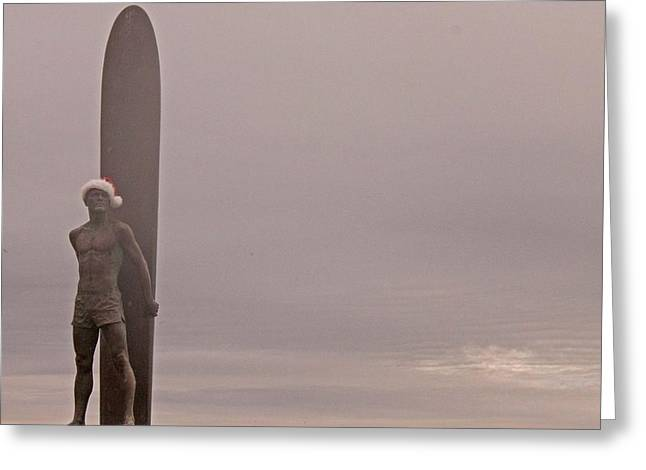 Santa Cruz Santa Surfer  Greeting Card