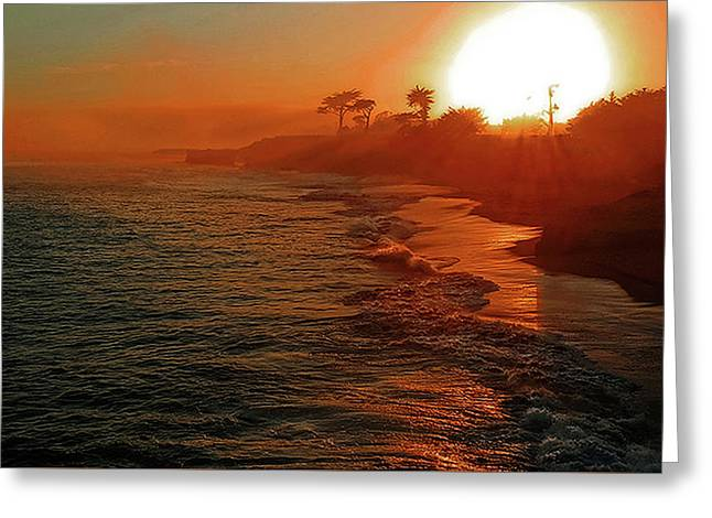 Santa Cruz Sunset Greeting Card