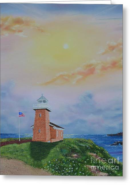 Greeting Card featuring the painting Santa Cruz Sunset by Mary Scott