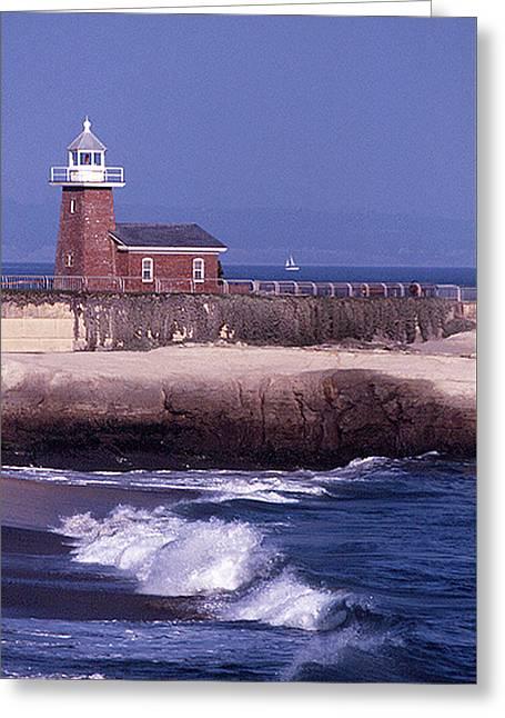 Santa Cruz Surfing Museum Greeting Card by Susan Vincil