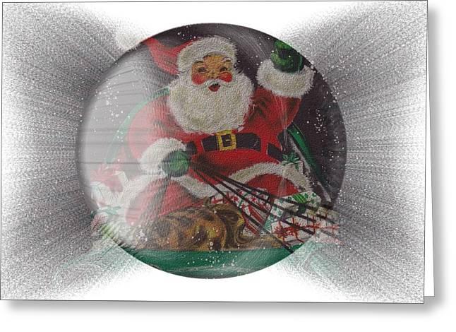 Santa Delivering Gifts Greeting Card
