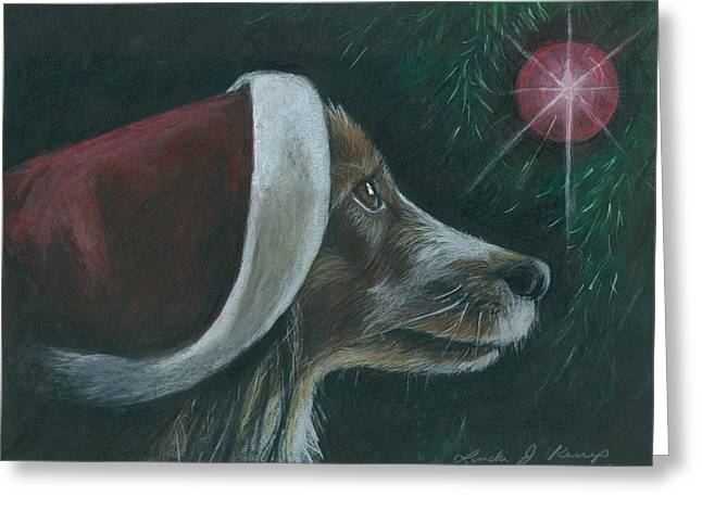 Santa Dog Greeting Card