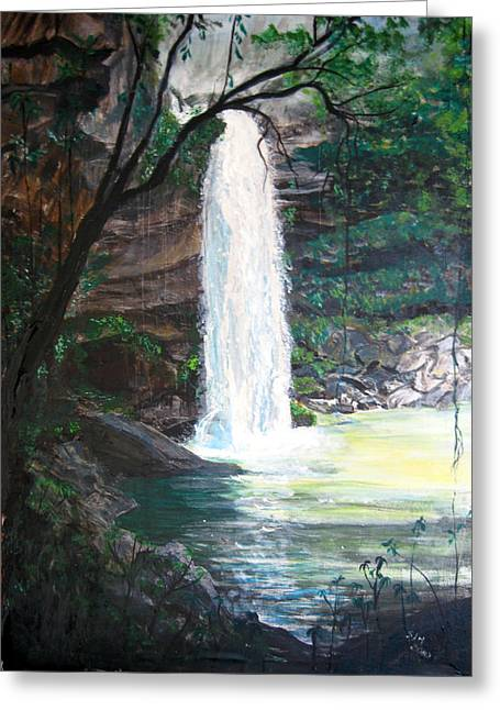 Santa Emelia Waterfall Greeting Card