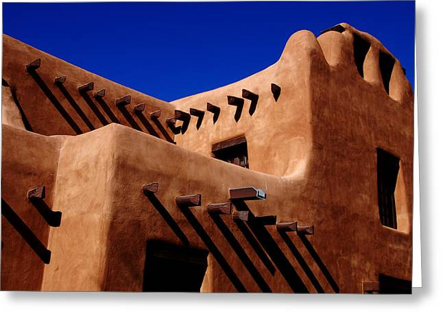 Greeting Card featuring the photograph Santa Fe Adobe by Kathleen Stephens