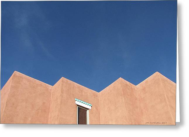 Santa Fe Angles, Blue Sky Greeting Card