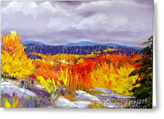 Santa Fe Aspens Series 1 Of 8 Greeting Card