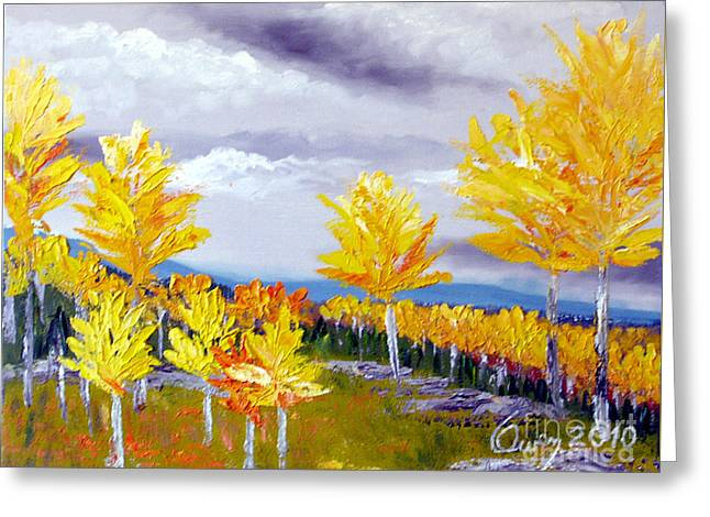 Santa Fe Aspens Series 3 Of 8 Greeting Card
