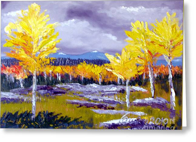 Santa Fe Aspens Series 4 Of 8 Greeting Card