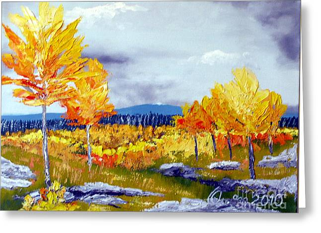 Santa Fe Aspens Series 6 Of 8 Greeting Card
