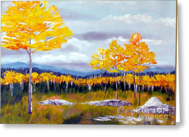 Santa Fe Aspens Series 8 Of 8 Greeting Card